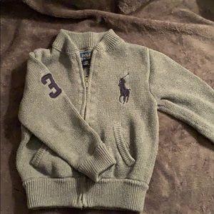 Ralph Lauren Boys 3T zip up cardigan